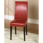 Armen Living Genuine Leather Upholstered Dining Chair (Set of 2)