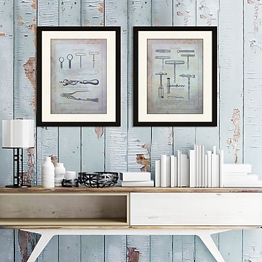 Williston Forge 'Cork Screws I' 2 Piece Framed Graphic Art Print Set