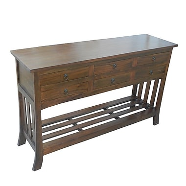 Darby Home Co Diandra Wooden 6 Drawer Console Table