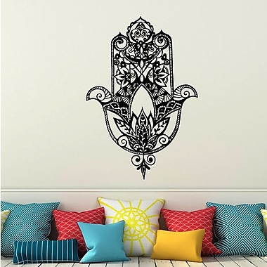 Decal House Fatima Hand Wall Decal; Black
