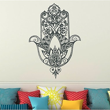 Decal House Fatima Hand Wall Decal; Gray