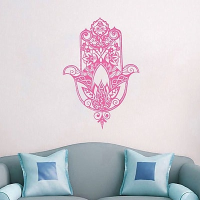Decal House Fatima Hand Wall Decal; Soft Pink