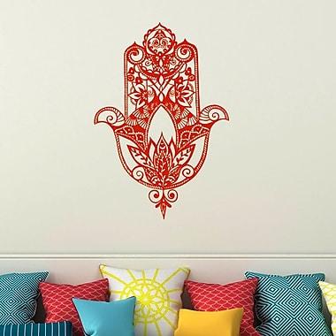Decal House Fatima Hand Wall Decal; Orange