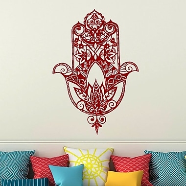 Decal House Fatima Hand Wall Decal; Red