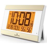 Starrett Atomic Digital Wall Clock w/ Auto-Night Light, Temperature & Humidity - Batteries Included