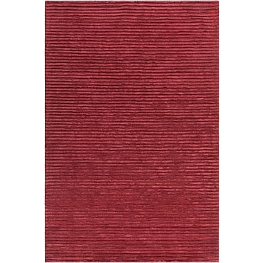 17 Stories Nathen Textured Striped Red Area Rug; 5' x 7'6''