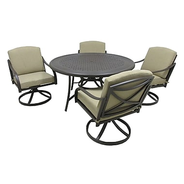 Darby Home Co Besser 5 Piece Dining Set w/ Cushions