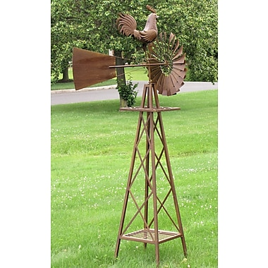 ZaerLtdInternational Large Stand Windmill w/ Rooster