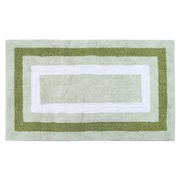 Darby Home Co Deverell 100pct Soft Cotton Bath Rug; White/Sage Green