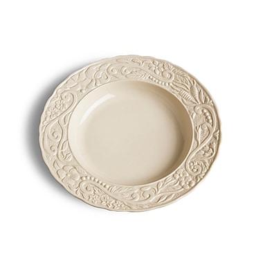 One Allium Way Parikh Circle Pasta Bowl (Set of 4); Cream