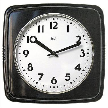 Latitude Run Snead Retro Modern 9.4'' Wall Clock; Black