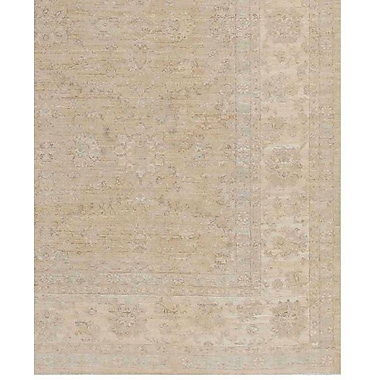 Pasargad NY Farahan Hand Knotted Wool Brown Area Rug