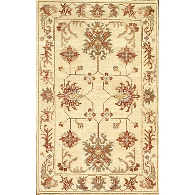 Pasargad NY Farahan Scatter Hand-Knotted Wool Ivory Area Rug