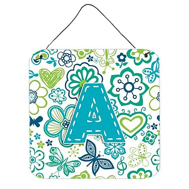 Zoomie Kids 'Flowers and Butterflies' Graphic Art Plaque; A