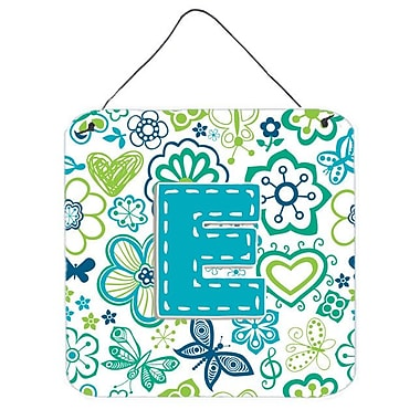 Zoomie Kids 'Flowers and Butterflies' Graphic Art Plaque; E
