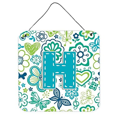 Zoomie Kids 'Flowers and Butterflies' Graphic Art Plaque; H