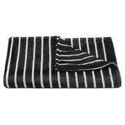 Breakwater Bay Wooster Handcrafted Throw; Black/White