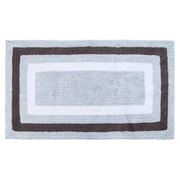 Darby Home Co Deverell 100pct Soft Cotton Bath Rug; White/Gray