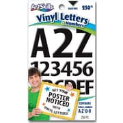 Artskills Poster and Bulletin Board Lettering, Vinyl, Black, 250/Pk