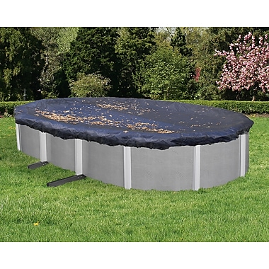 Arctic Armor BWC526 Black Oval Above-Ground 4 Year Leaf Net Pool Cover, 18' x 33'