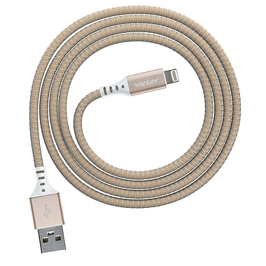 Ventev Charge/Sync Alloy Cable Lightning 4ft, Gold (555390)