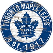 "Sports Art 24"" Round Decor Sign, Toronto Maple Leafs"