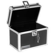 Vaultz® Locking Index Card Box, Black