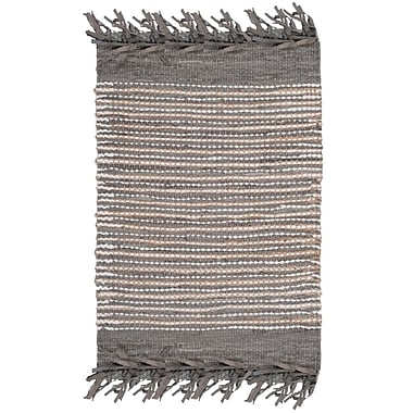 Bungalow Rose Glostrup Hand Tufted Cotton Gray Area Rug; 2'3'' x 4'