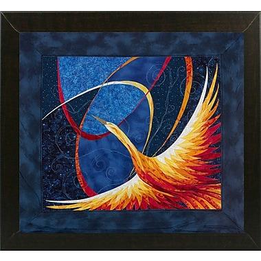 Bloomsbury Market 'Phoenix' Graphic Art Print; Brazilian Walnut Wood Medium Framed Paper
