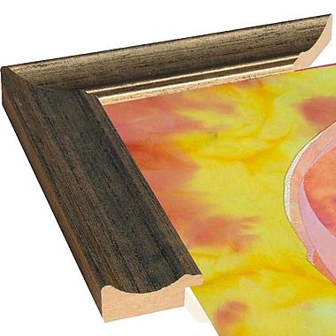 Bay Isle Home 'Flamingo Mom' Print; Black Floater Framed Canvas