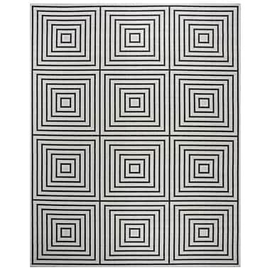 Brayden Studio Kallias Contemporary Light Gray Lattice Area Rug; Square 6'7''