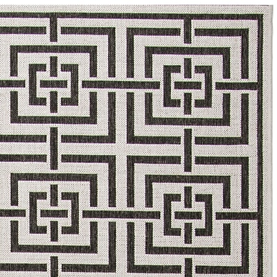 Brayden Studio Kallias Light Gray Lattice Area Rug; 5'1'' x 7'6''