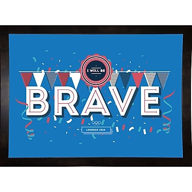 East Urban Home 'Brave' Graphic Art Print; Canvas Black Floater Frame