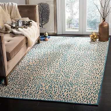 Everly Quinn Ankit Hand Tufted Beige Area Rug; Round 6'