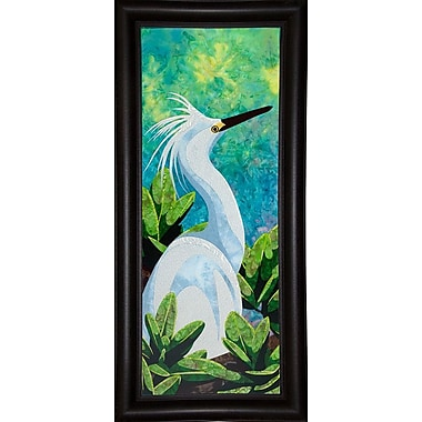 Bay Isle Home 'Snowy Egret' Print; Wrapped Canvas