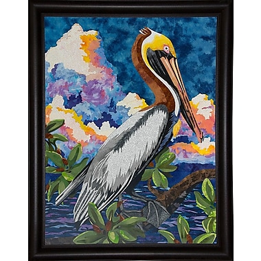 Bay Isle Home 'Pelican' Print; Bistro Expresso Framed Paper