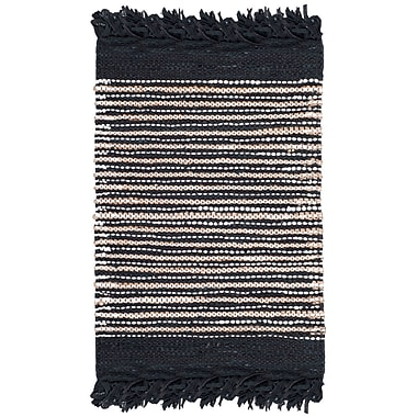 Bungalow Rose Glostrup Hand Tufted Black Area Rug; Square 6'