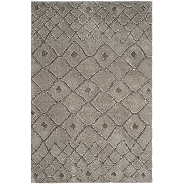 Gracie Oaks Atisha Gray Area Rug; 3' x 5'