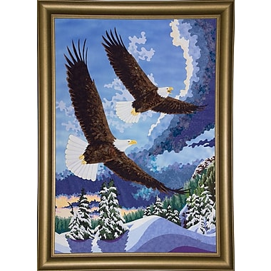 Loon Peak 'Soaring Over Cloth Mountain' Print; Maple Floater Framed Canvas