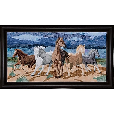 Loon Peak 'Stampeding Horses' Graphic Art Print; Bistro Expresso Framed Paper