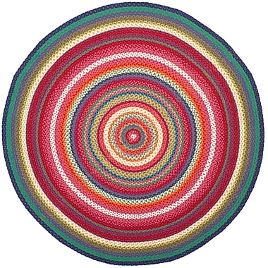 August Grove Paulina Hand Tufted Pink Area Rug; Round 5'