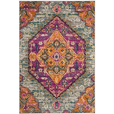 Bungalow Rose Esparza Light Gray Area Rug; 3' x 5'