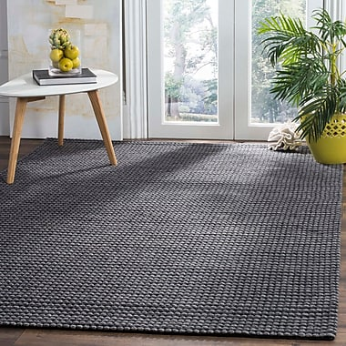 Gracie Oaks Steffen Hand Tufted Gray Area Rug ; 8' x 10'