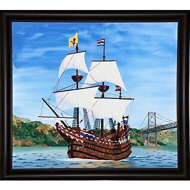 Breakwater Bay 'Ship' Print; Bistro Expresso Framed Paper