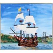 Breakwater Bay 'Ship' Print; Silver Metal Framed