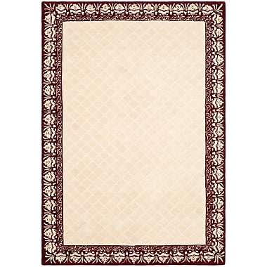 Darby Home Co Caine Glam Hand Tufted Ivory Bordered Area Rug; 2' x 3'