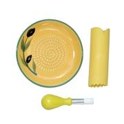 Cooks Innovations 3-Piece Grater Plate Set; Yellow/Green