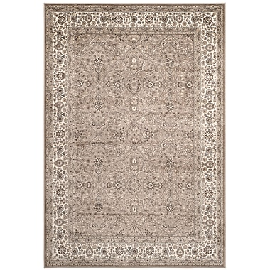 Darby Home Co Carolus Traditional Taupe Area Rug; 4' x 5'3''