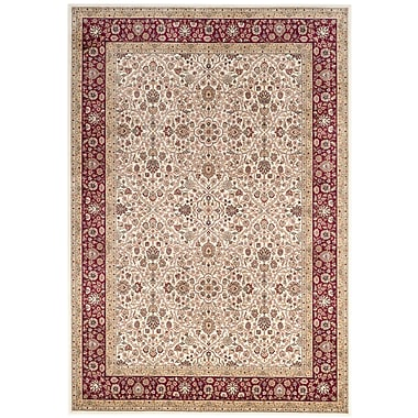 Darby Home Co Carolus Traditional Rectangle Ivory Area Rug; 6'7'' x 9'6''