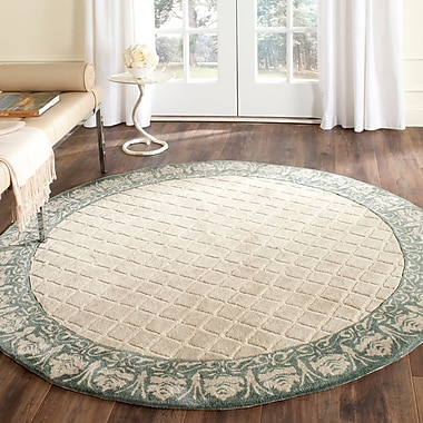Darby Home Co Caine Hand Tufted Ivory Area Rug; Round 8'